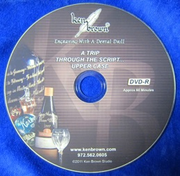 How to Engrave Calligraphy Letters DVD by Ken Brown